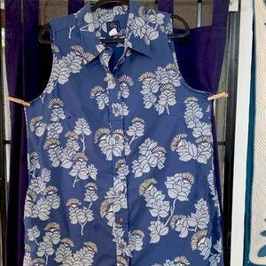 Sig Zane lehua print short shirtdress